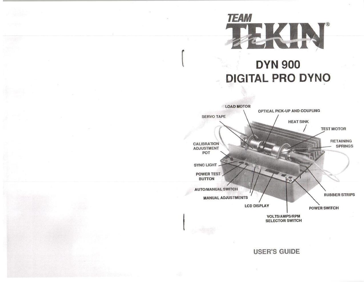 Tekin Dyn 900 Manual Tekin Dyno - R/C Tech Forums