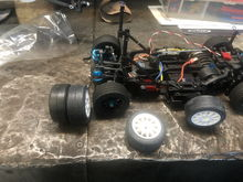 I bought it used. It's a Tamiya brushed motor. I think I'm the only one running brushed. The class is 21.5 fixed timing.  The radials tires work, but weren't gonna last long under race conditions