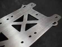 2mm Titanium chassis for abc gambado.  titanium chassis dot com