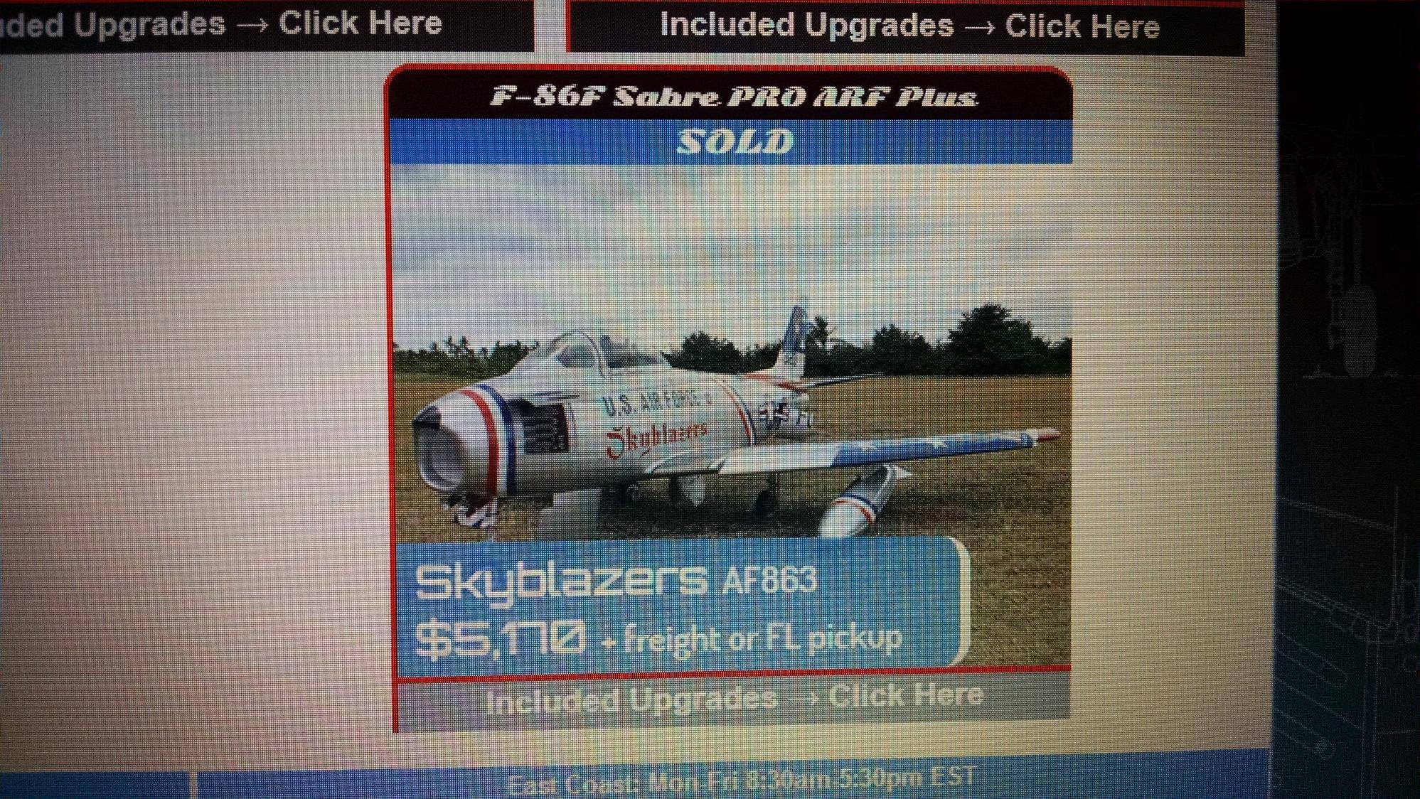 Maj  Woody's Skymaster 1/5 F-86 - RCU Forums