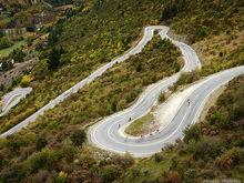Crown Range switchbacks - South Island, New Zealand