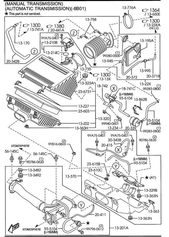 Air Filter Throttle Body Vaccum Connector