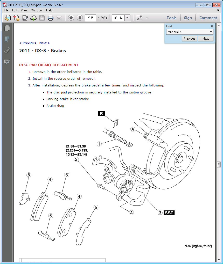 Mazda Oe Front Brake Pads Should Have Shims Right Rear Diagram Here Are Diagrams Showing How The Go Together