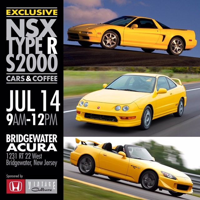 Type R/S2000/NSX BRIDGEWATER ACURA MEET July 14th