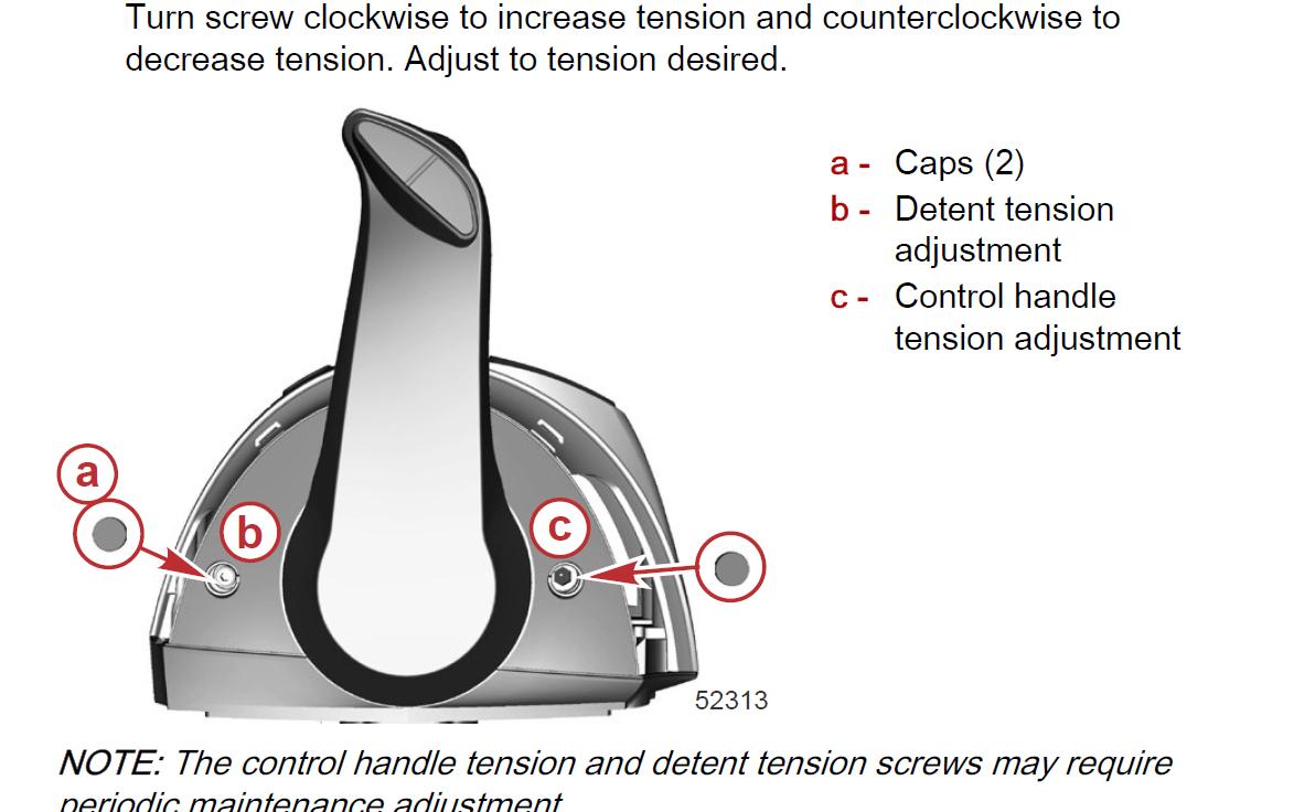 Mercury DTS throttle tension adjustment - The Hull Truth