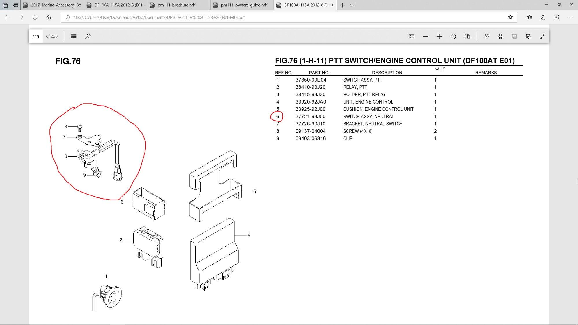 Rev limit light problem (Suzuki DF 115A) - The Hull Truth