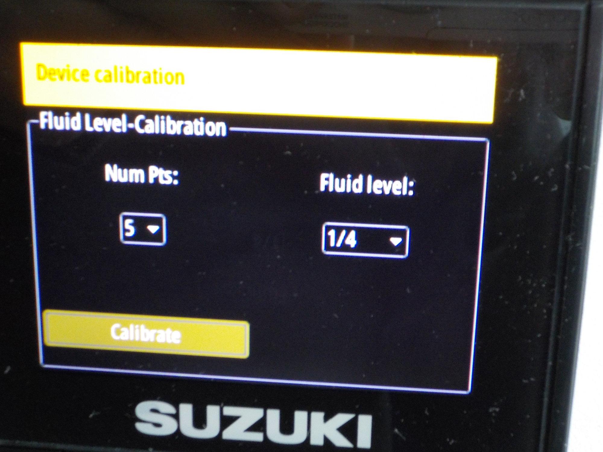 Suzuki C10 and Simrad fuel level calibration pictorial - The Hull