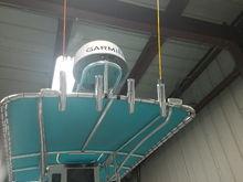 Rear lumitec dual color spreader lights and triple color lumitec rail 2 light above helm