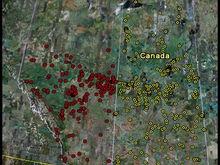 New Alberta and Saskatchewan lake locations on 2010 HotMaps Canada