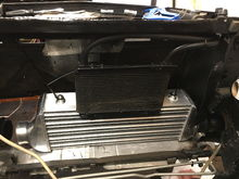 New smaller intercooler and tranny cooler all mounted