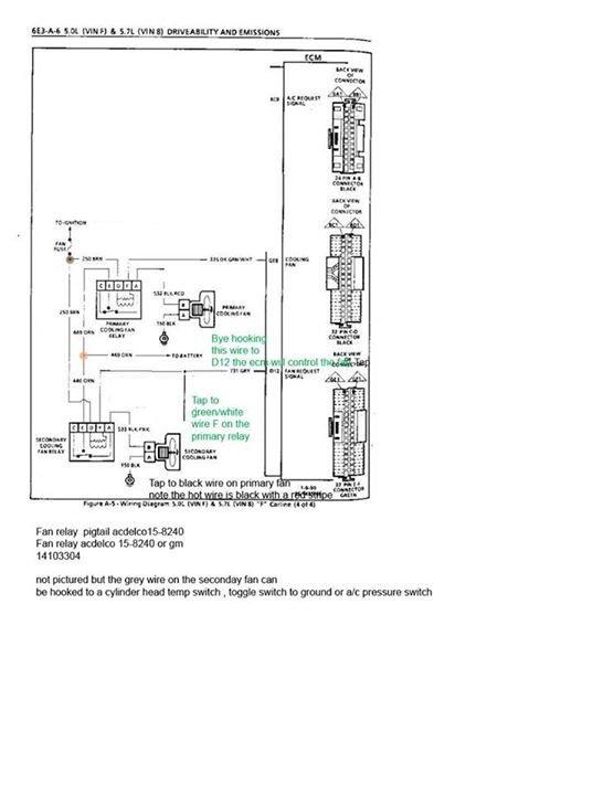 electric fan wiring help 7730 ecm