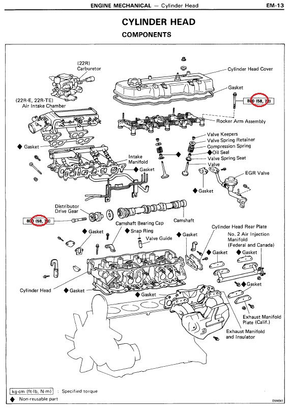 22re torque specs yotatech forums rh yotatech com Toyota 22RE Diagram Toyota 22RE Diagram