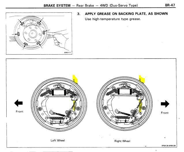 85 4runner Rear Drum Brake Fsm Correct For Left Vs Right Sides