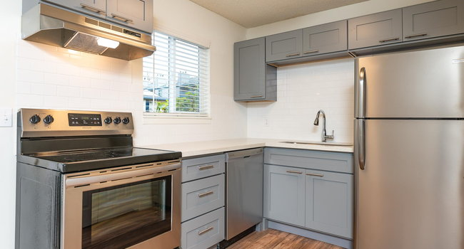 The Hideaway | Kitchen with Stainless Steel Appliances