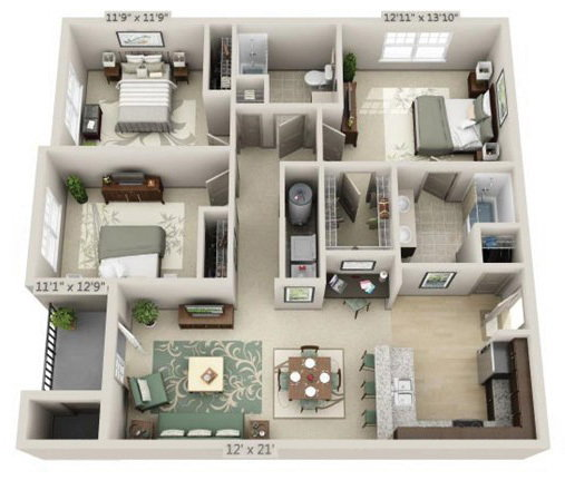 Bridford West Apartments - 115 Reviews